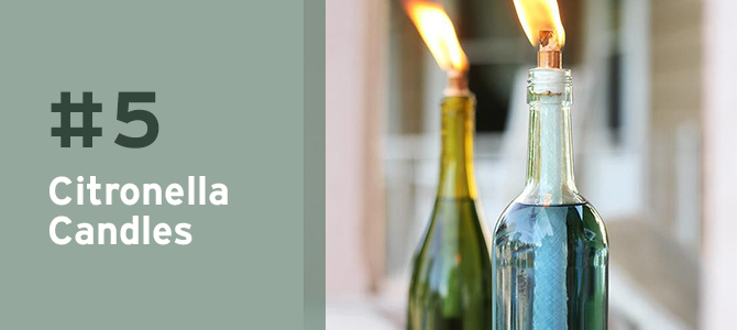 Love the outdoors? Find out how you can use a #recycled #wine bottle to make a citronella candle + MORE creative uses.
