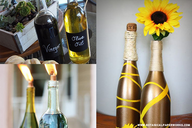 Find out how you can create 10 awesome items with these wine bottle #upcycle ideas!