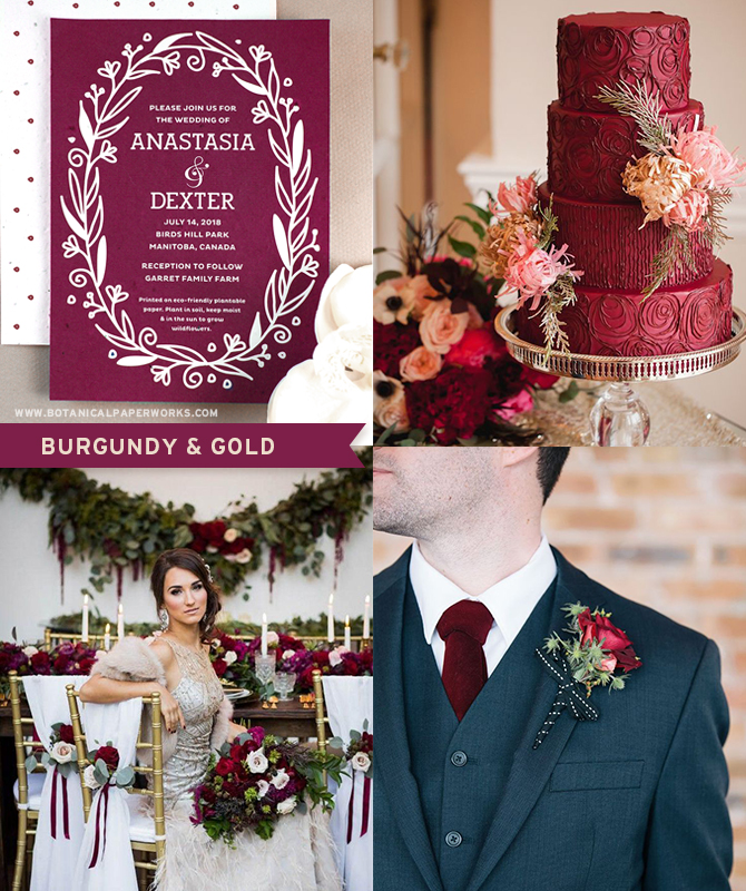 Lush, sophisticated and timeless, rich red and burgundy are two of the most perfect colours for #winterweddings.