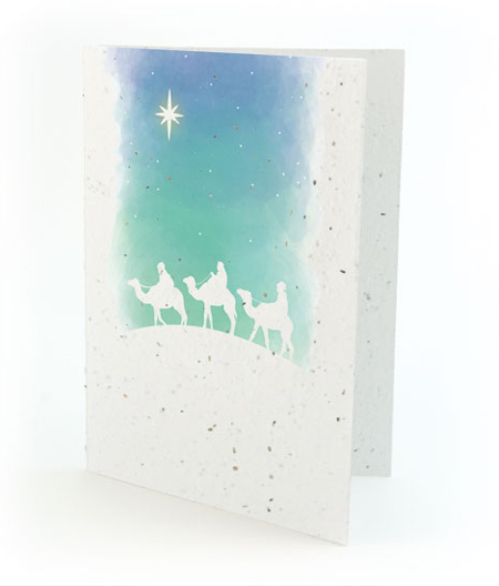 Wise Men Plantable Christmas Card