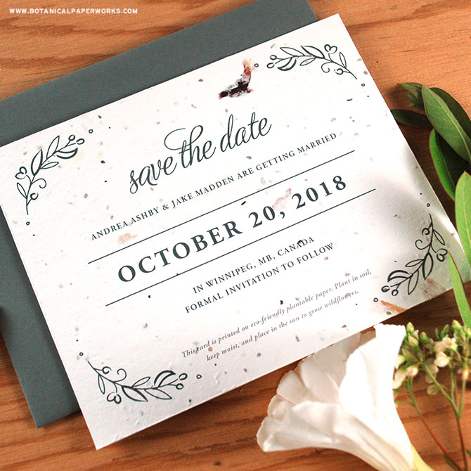 This plantable wedding invitations collection is as special as your big day will be!