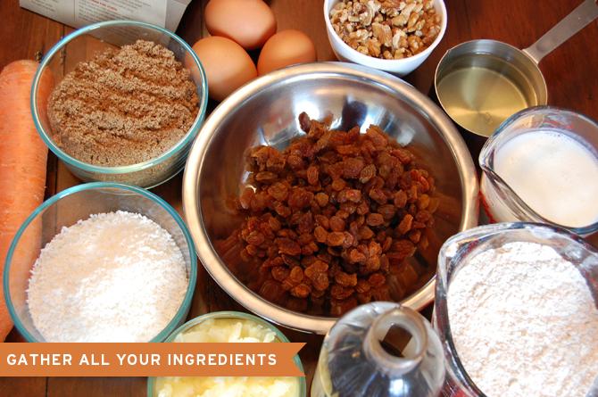 Botanical PaperWorks Plantable Grow-A-Garden Carrot Cake Recipe: Ingredients