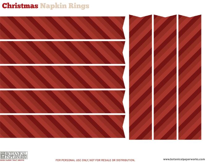 Botanical PaperWorks 12 Weeks of Christmas: Free Printable Christmas Table Decor and Settings