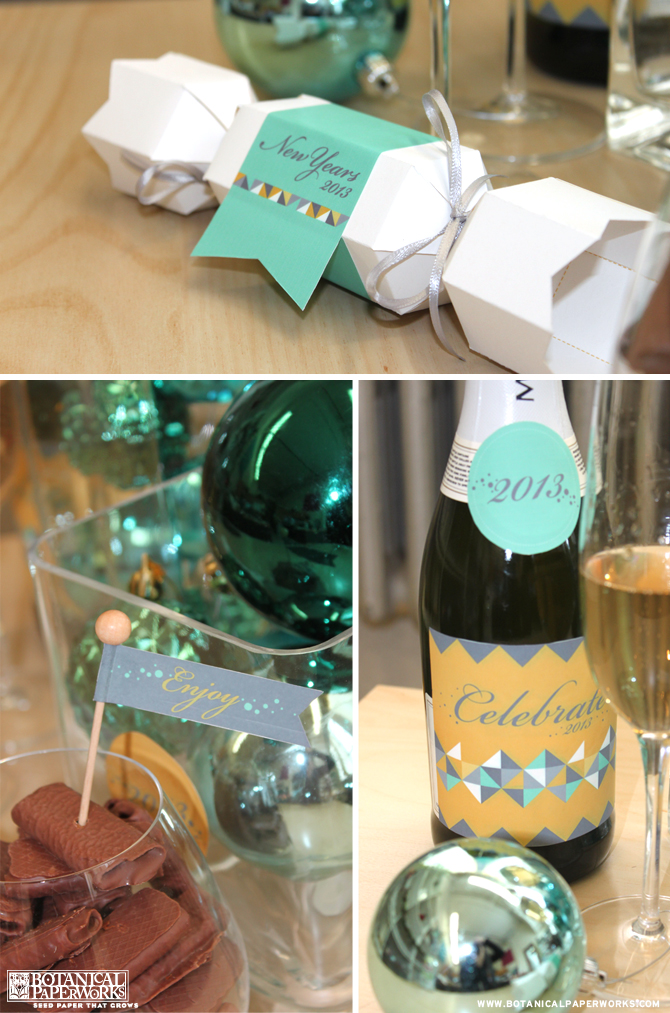 Botanical PaperWorks Free Printables: New Years Eve Party Kit