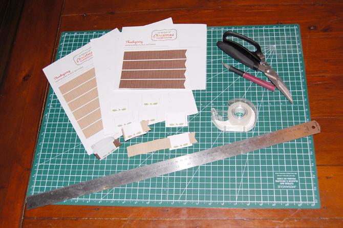 Botanical PaperWorks Free Printables: Supplies needed
