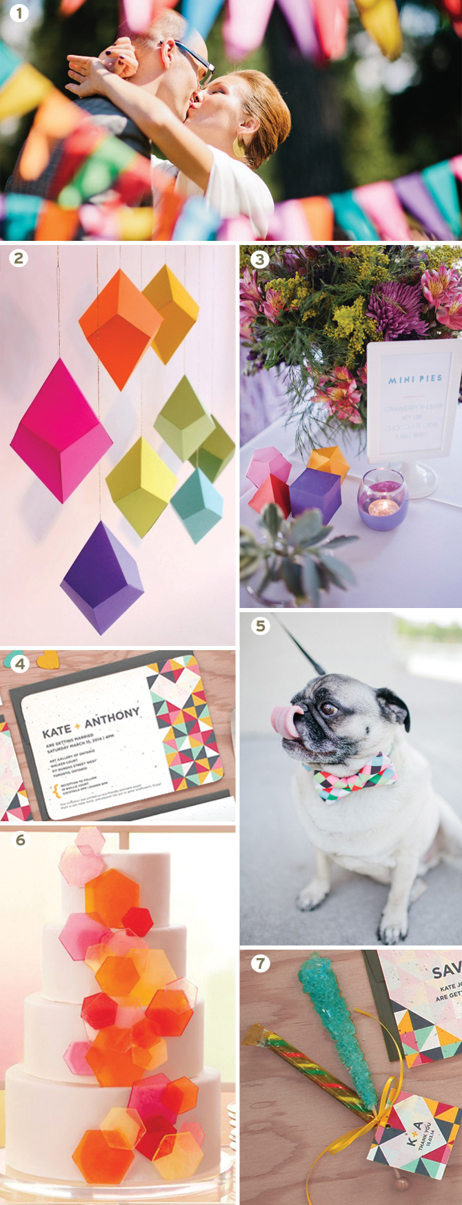 Botanical PaperWorks Geometric Inspiration Board