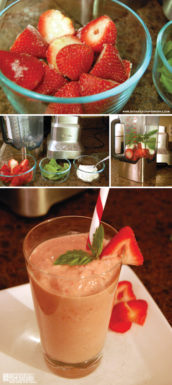 Botanical PaperWorks Starwberry Basil Smoothie Recipe