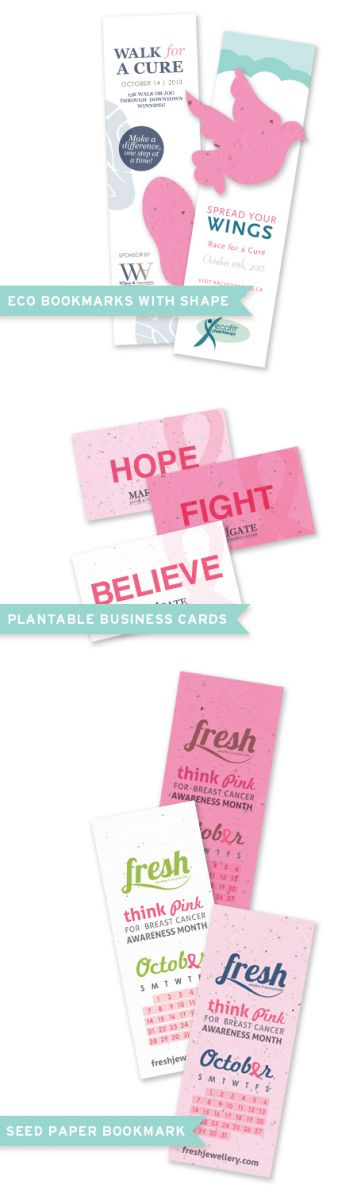 Botanical PaperWorks Breast CAncer Awareness Promotions
