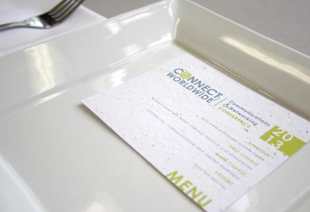custom seed paper menu card