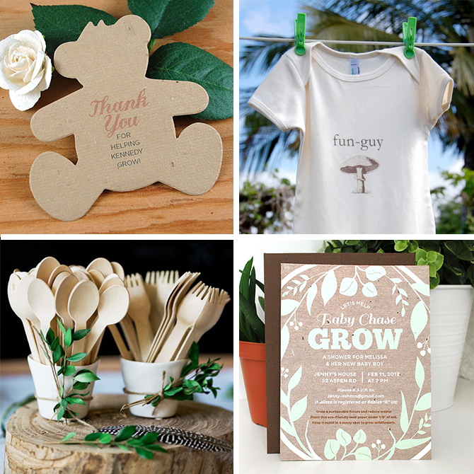 Planning a baby shower? There are tons of fun and beautiful eco-friendly solutions out there so you can not only reduce your carbon footprint, but encourage others to do the same.