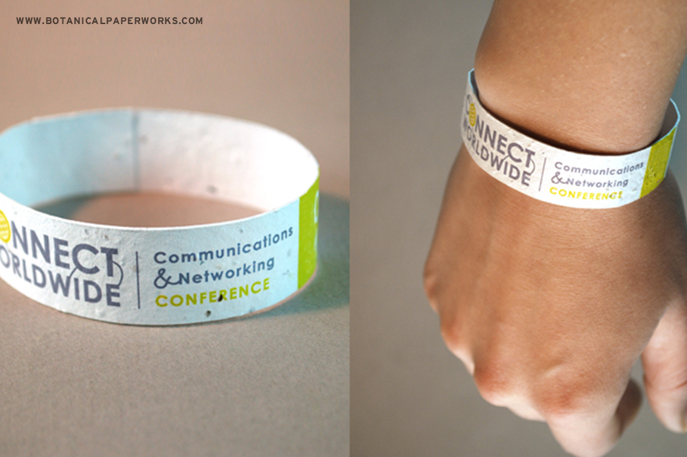 Seed Paper Wristbands from Botanical PaperWorks