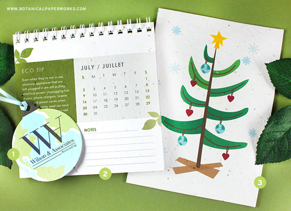 Seed paper holiday promotions deliver a green message and share something special with your clients, colleagues and customers.