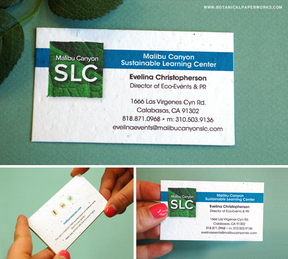 Here's a great example of how you too can use seed paper business cards to enhance your marketing!