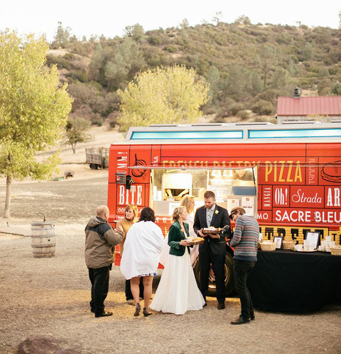Who doesn't love food truck fare? Choose your favourite truck and have your guests order what they want during the reception.