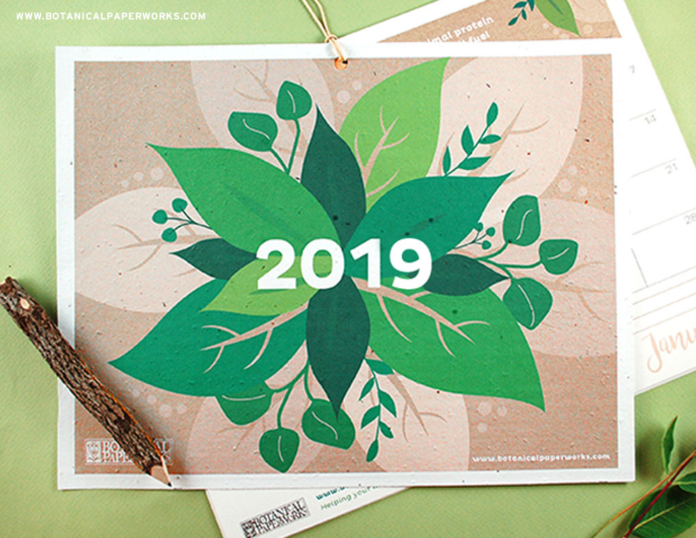 2019 design on seed paper card