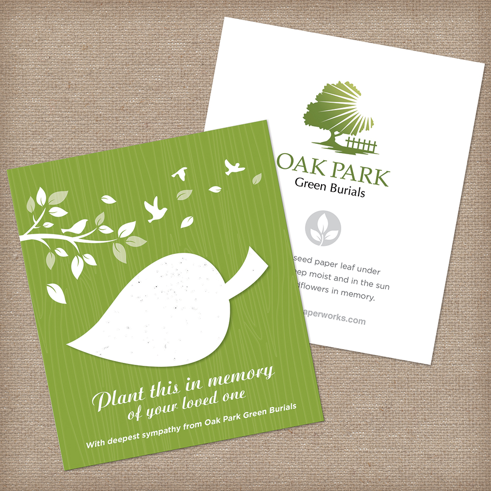 seed paper memorial favor for green burials
