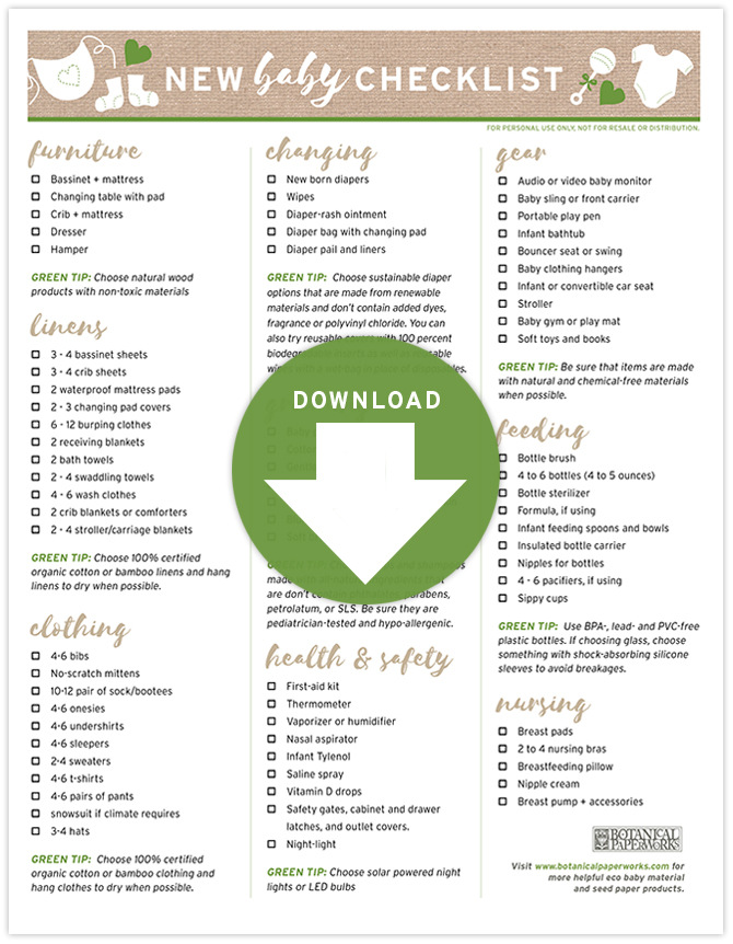 Be sure you have everything you need to welcome your bundle of joy with this helpful Free Printable New Baby Checklist.