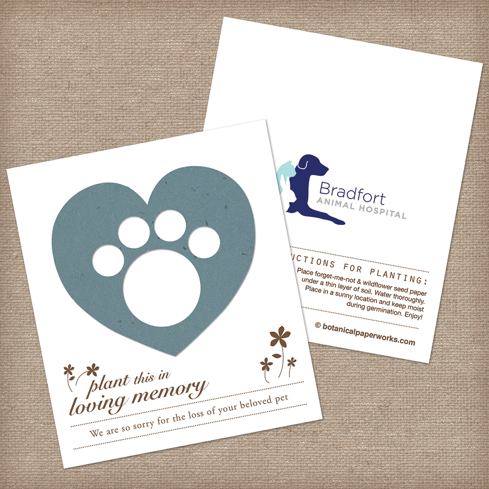 seed paper memorial favor for pet