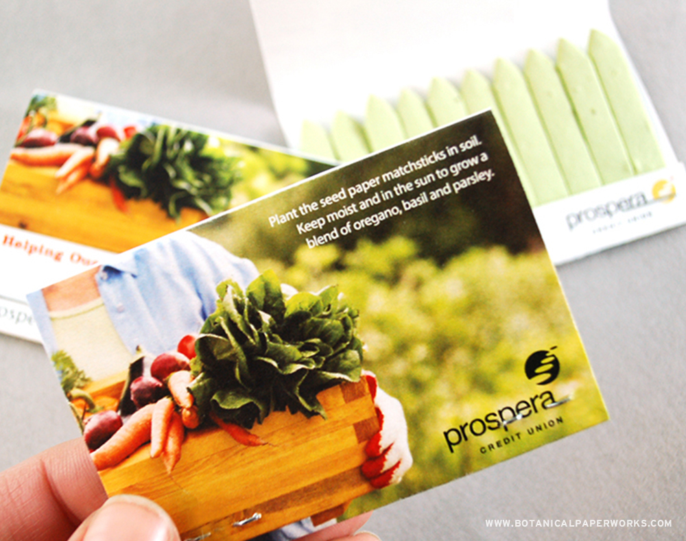These Herb Matchbooks won SILVER at the Image Awards in Toronto for the BEST in Green Category!