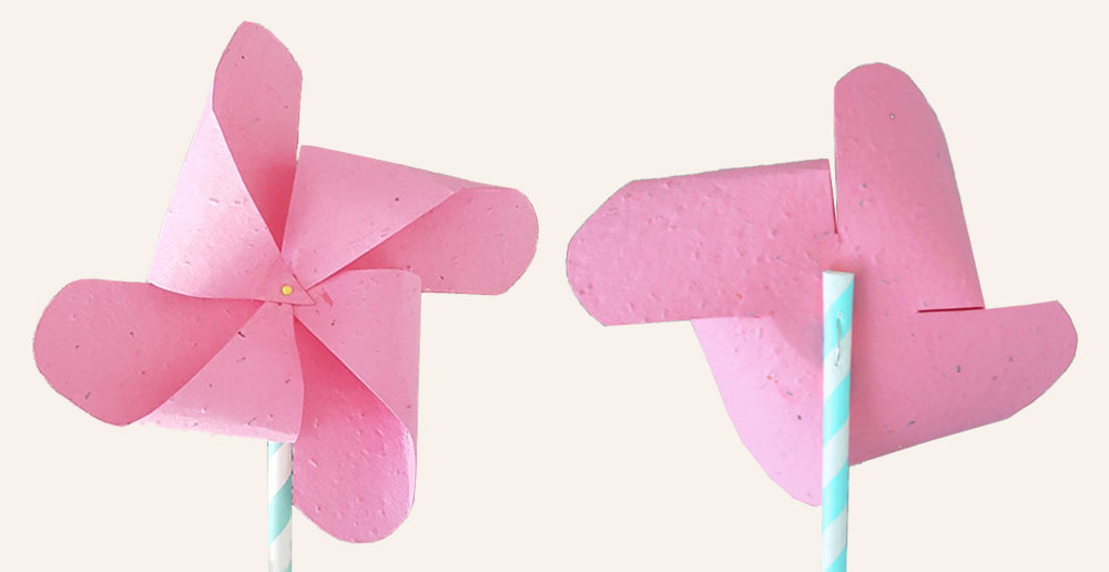 The plantable paper craft is easy to make and will add spring vibes to your home!