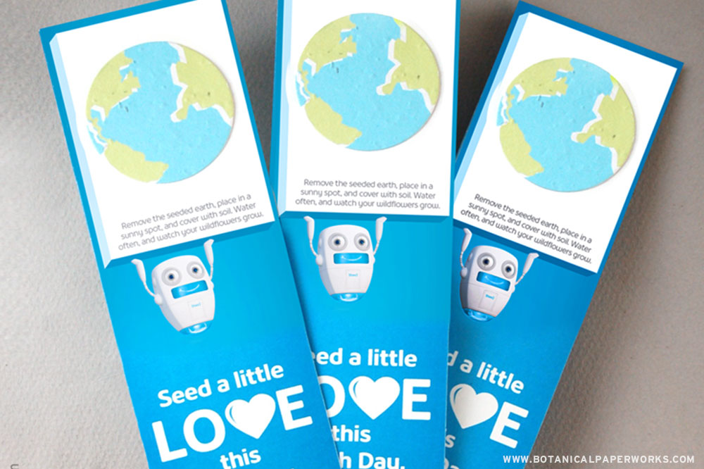 seed paper promotional bookmarks
