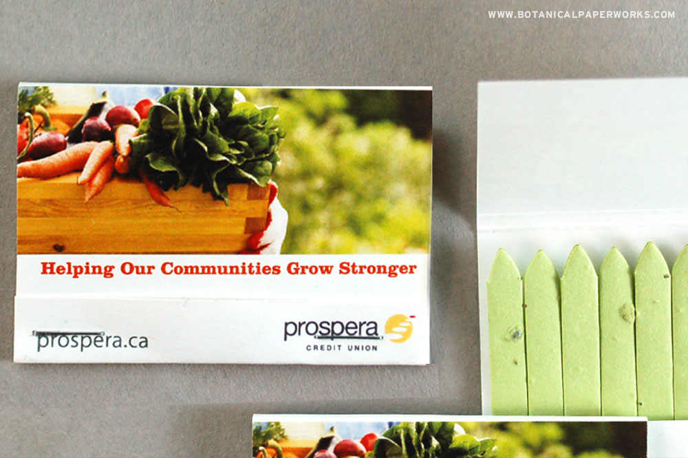 plantable seed paper matchstick promotional products