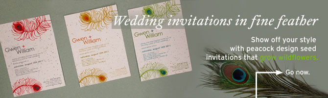 Seed wedding invitations