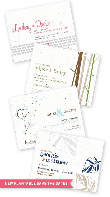 seed paper plantable save the date cards