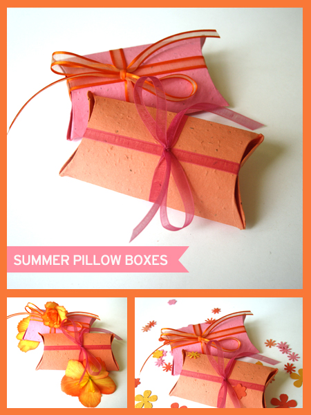 Botanical PaperWorks Seed Paper Pillow Box Favor Ideas