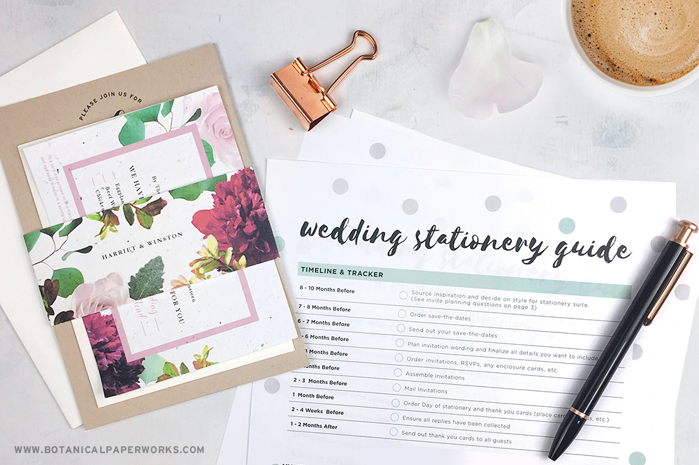 Follow this step-by-step guide for ordering plantable wedding invitations.