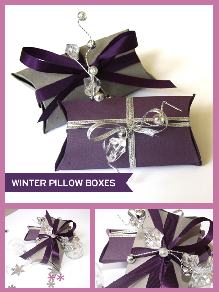 Botanical PaperWorks Seed Paper Winter Pillow Box Favor Ideas